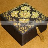 Zari Hand Embroidery Jewelry Box