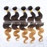 three tone ombre brazilian hair weave wet and wavy 1b/4/27 Ombre hair extensions fashion sexy products factory in xuchang