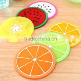 Silicone Coasters Mat Fruit Heat Insulation Resistant Pad Non-Slip Cup Placemat