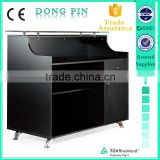 black salon front desk furniture with drawers