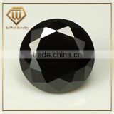 Round black cubic zirconia loose gemstone 0.8mm--50mm with brilliant cut of china
