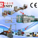 double screw t die head extrusion PS food box making machine