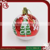 Christmas Decoration Craft Supplies Matte Powdered Paint Blended Christmas Ball Ornaments Bulk