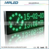 "High quality 16""x40""Waterproof outdoor P10 SMD single green color LED display acrylic led sign brand"