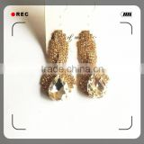 alloy jewelry copper brass plating gold simple gold earring designs for women