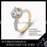 Big stone ring designs high quality cz engagement rings 18 karat gold plated ring