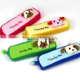 Lovely color plush animal stationery bag creative cute dog pencil case                                                                         Quality Choice