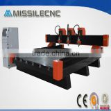WATER-COOLING SPINDLE CARVING MARBLE STONE CNC ROUTER /ENGRAVING MACHINE 2025 WITH THREE HEADS