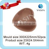 hot sale heart shaped polycarbonate chocolate mould