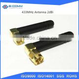 RF 433MHz Antenna Aerial 2dBi With SMA Right Angle Male Connector Antenna Size 106mm Wholesale