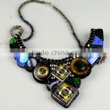 Fashion designs colourful native style pendant applique, collar beads trimming for neck decoration