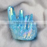 Wholesale Blue Healing Natural Opal Aura Quartz Cluster, Cactus Quartz, Spirit Quartz, Hybrid Crystal                                                                         Quality Choice