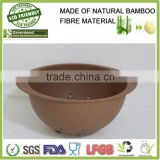 100% natureal bamboo fibre colander and vegetable strainer