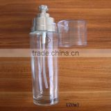 120ml clear body lotion bottle with pump