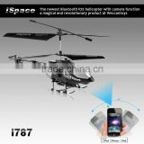 iPhone bluetooth controlled CAMERA helicopter with Gyroscope