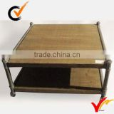 retro shabby wood board and metal framed table                                                                         Quality Choice