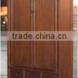 chinese antique brown wooden wedding cabinet