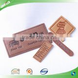 New PU leather hang tag, leather label, colorful printing embossed imitation leather label tags