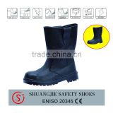 Natural rubber sole safety boots security safety shoes with steel toe cap 8075