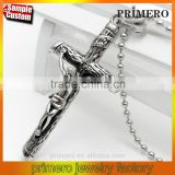 Jesus Head Pendant Christian Jewelry Wholesale Vintage Stainless Steel Cross Necklace