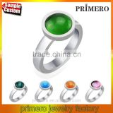 Fashion high qualty woman opal jewelry Ring 316L Stainless steel Cat's eyes stone rings