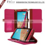 Shenzhen manufacturer stand folio wallet leather case for HTC Butterfly 3,genuine leather case for for HTC Butterfly 3