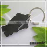 Factory Eco-friendly Rubber Custom Full House Shape Keychain For Personal Decoration