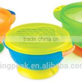 2015 Hot Selling BPA free Portable Spill Proof Suction Baby Bowl/Kids Suction Bowl/kids food bowl