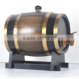 Various sizes and colors wooden barrels for beer/wine