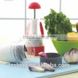2016 As seen on TV Household Easy Clean Manual Onion Chopper Slap Chop Plastic Vegetable Chopper