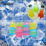12PCS/LOT Ice Cube Cooler Resusable Recyclable Coating Diamond/fish/mix fruit/star/cube Shape for Cooling Water