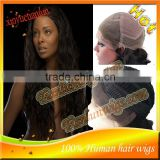 Fast Shipping!nice Loose Curl100%virgin human hair Lace front wig&Full Lace wig bleached knots with baby hair HOT!!