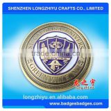 Cheap custom wholesale enamel metal challenge coins