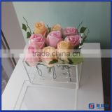 2016 New Arrival Cheap Price Acrylic Flower Display Case / 16 25 36 holes Waterproof Acrylic Rose Display Box