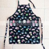 cotton apron for kitchen with printing in shopping bag pattern