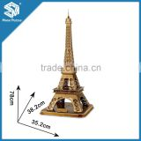 Paris Famous building jigsaw puzzle eiffel tower 3d model souvenir