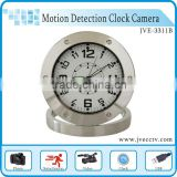 JVE-3311B Table Clock Vedio dvr Camra Stainless Steel Alarm Clock Camera Motion Detection for home security