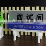 Whole sale acrylic hanging sign board for office building, plastic sign board for office