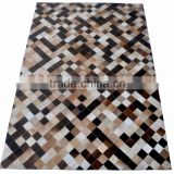 Patchwork Hair-On Cowhide Leather Rug PL-343