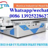 Industrial head Inkjet wood sheet uv Printer wooden box uv flatbed printer with Vacuum platform