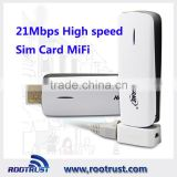 Portable pocket wireless wifi 3g 4g sim card router With RJ45 hame A11w