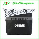 2014 good zebra print design nurse tote bag