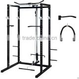 Athletics Power Rack with Lat Pull/ Tricep Rope/Dip Handles