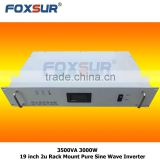 Off grid 3500VA 3000W 48V dc to 230V ac Foxsur New product solar system 19 inch 2U Rack Mount Pure Sine Wave Inverter