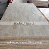 Finger Joint Laminated board/ Panel/ Worktop / Countertop / Benchtop, Table top, solid wood shelving Rubber Wood, Acacia