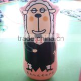 cartoon sheep inflatable punching tumbler