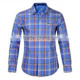 Direct factory india mens shirts cotton spandex checked button down international branded mens casual shirts