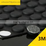 12.4*3.5mm Cylinder Self Adhesive Transparent Anti Slip Bumpers Silicone Rubber Feet Pads High Sticky Shock Absorber