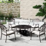 Outdoor furniture cast aluminum table set cast aluminum chair garden dining set FCO-CA003