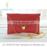 Long chain envelope clutch simple fashion clutch bag many colors available direct factory handbag